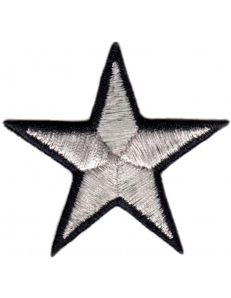 Gwiazdka srebrno-czarna