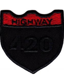 Highway 420 czarno-bordowa