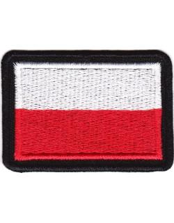 Flaga Polski biało-czerwona na mundur