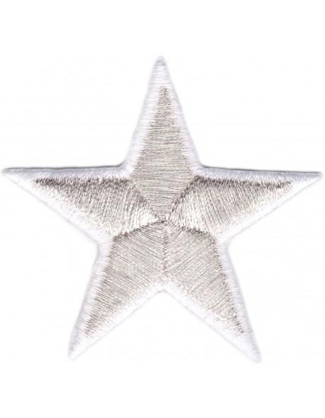Gwiazdka srebrno-biała